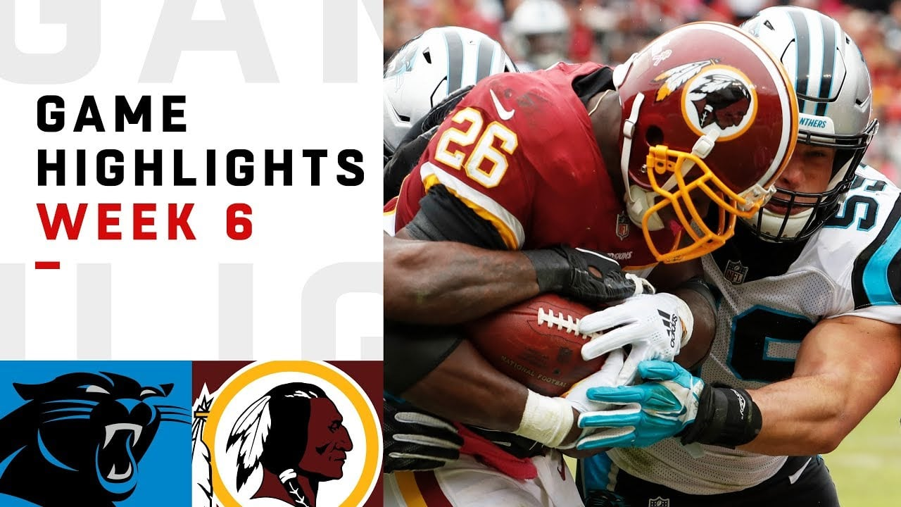 8897a2ae0 Highlights  Panthers at Redskins