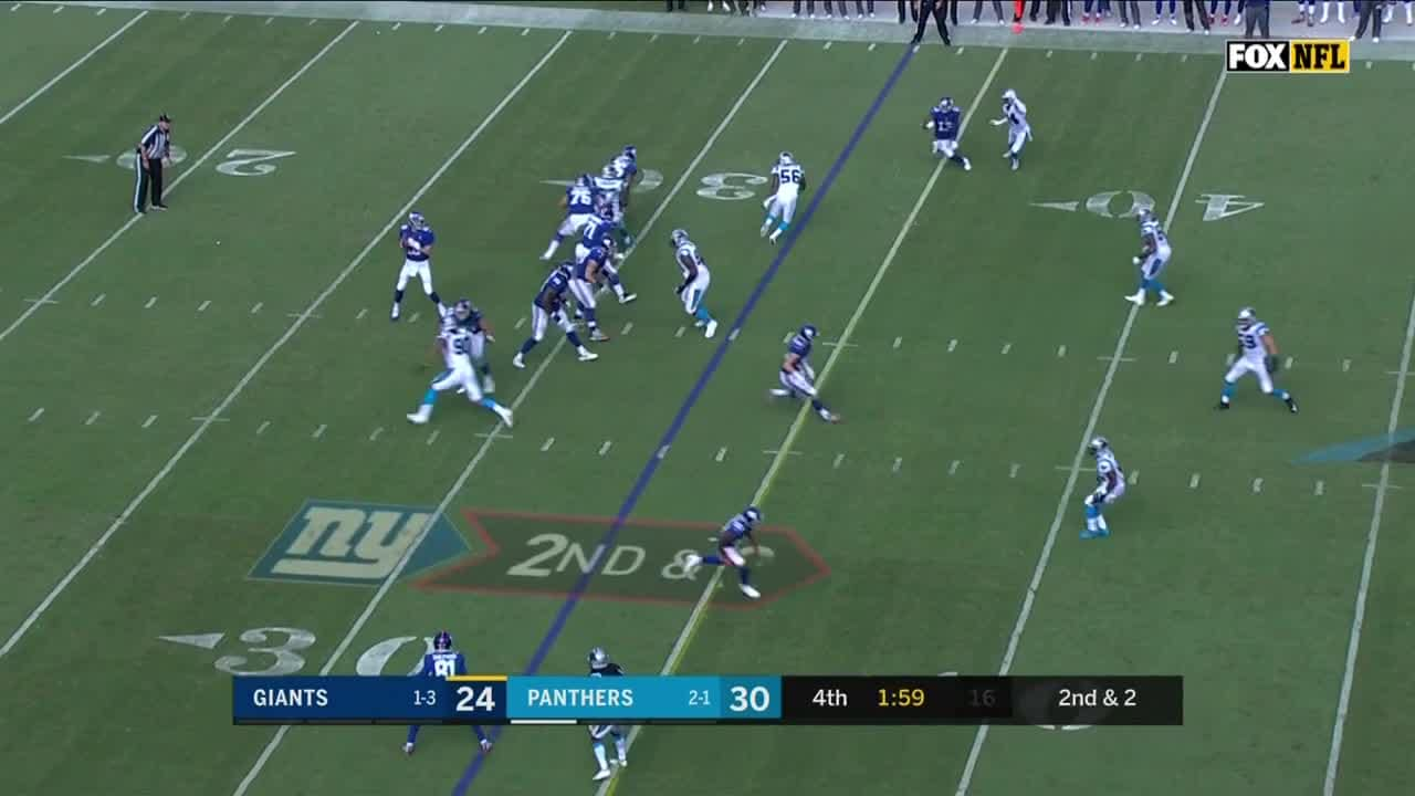 Every play from final two minutes of Panthers win over Giants