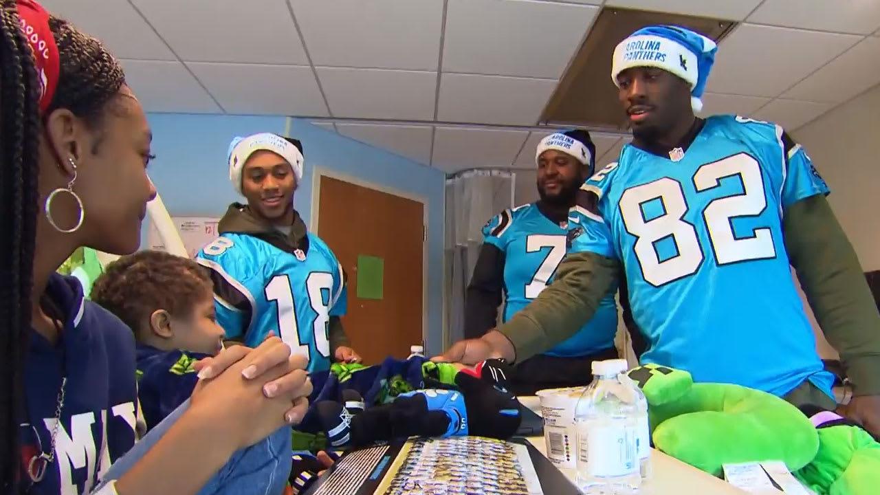 Panthers deliver toys at Levine Children s Hospital 313268cfe