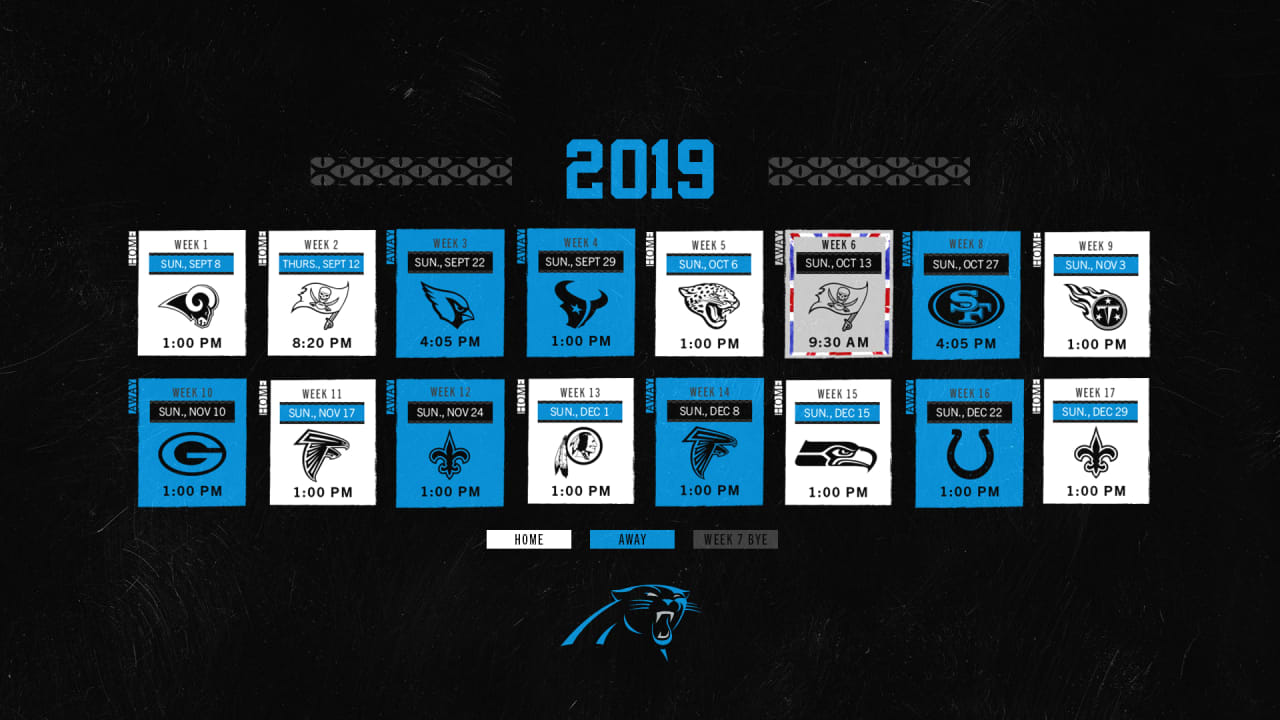 d33e762b Panthers announce 2019 schedule