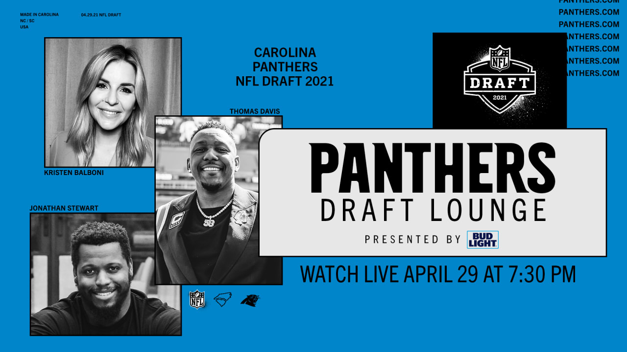 "The Panthers will broadcast ""Draft Lounge"" specials during the first two nights of the NFL draft"