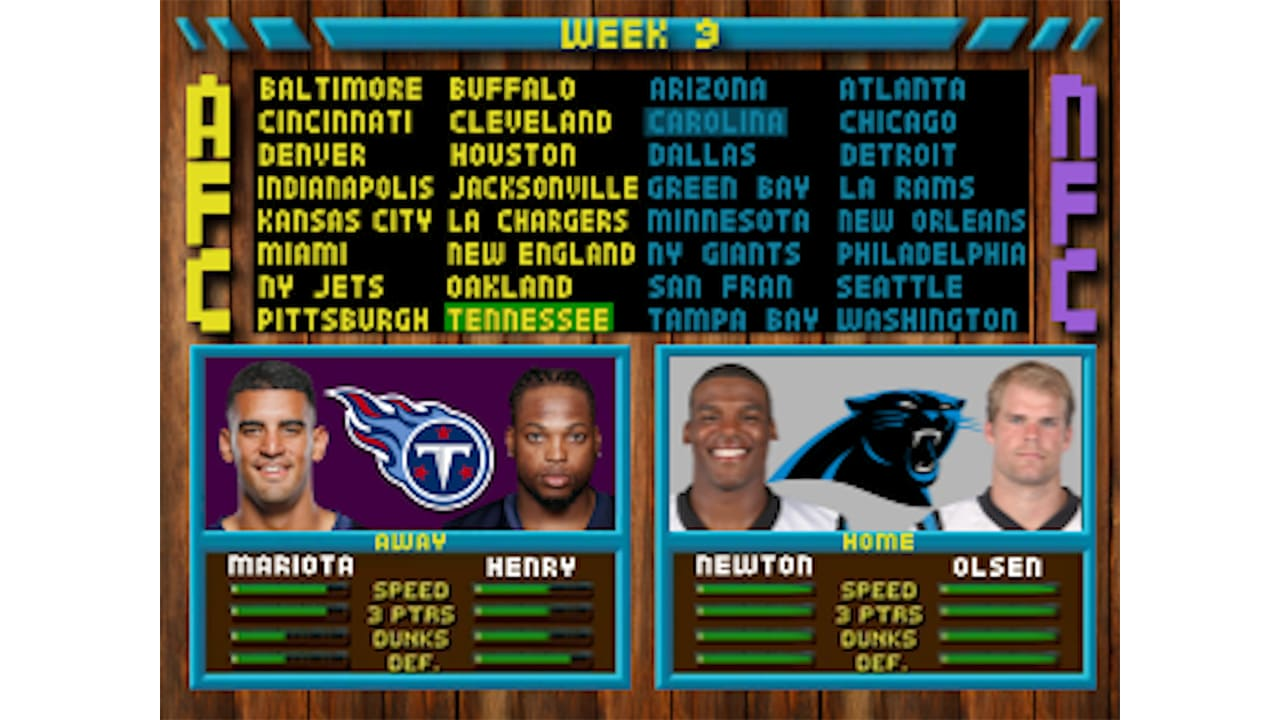 All The Retro Games Featured In The Panthers 2019 Schedule Release