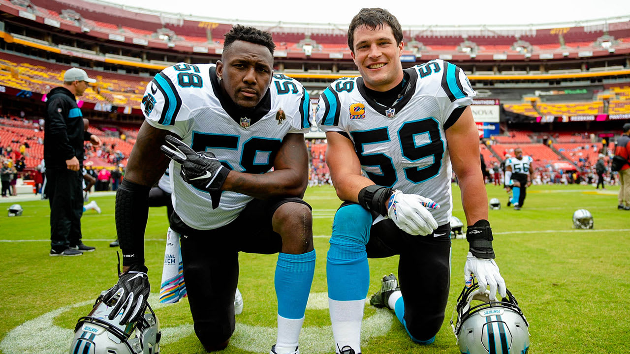 65d181c925f How does Luke Kuechly feel about Thomas Davis leaving and Julius Peppers  retiring