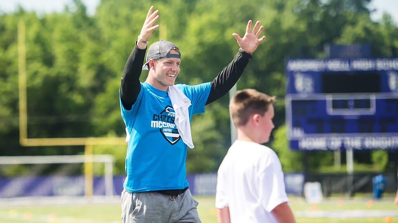 0bdf5bcdad8 Watch: Christian McCaffrey hosts football camp