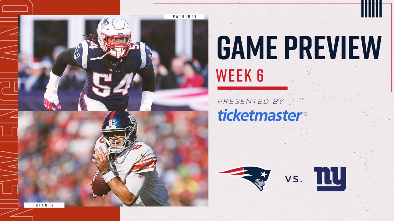 Game Preview Giants At Patriots