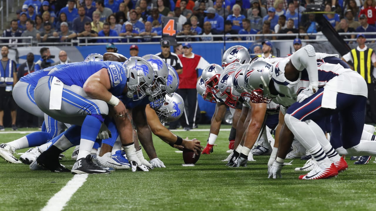 Broadcast Information: Patriots at Lions