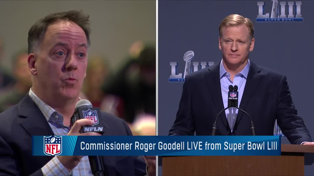 21c87ab10 NFL Commissioner Roger Goodell addresses controversial no-call in NFC  Championship Game