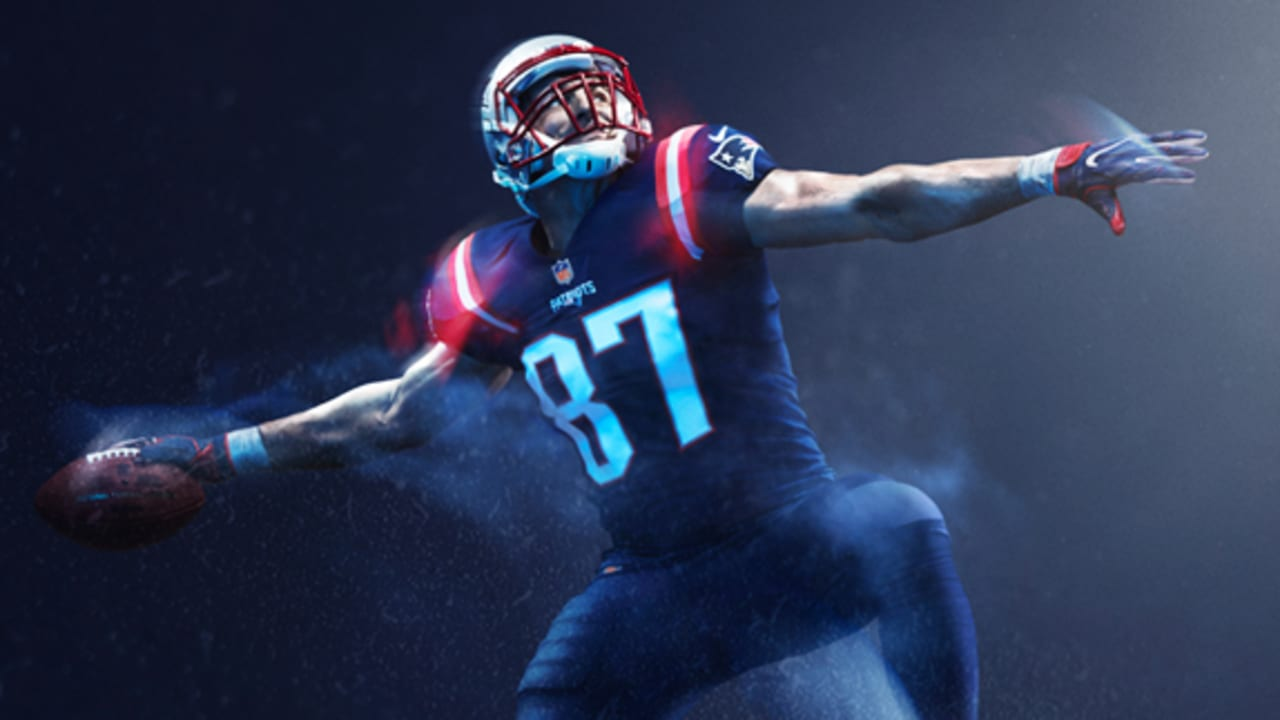 Check out the 2016 Patriots Color Rush Jerseys