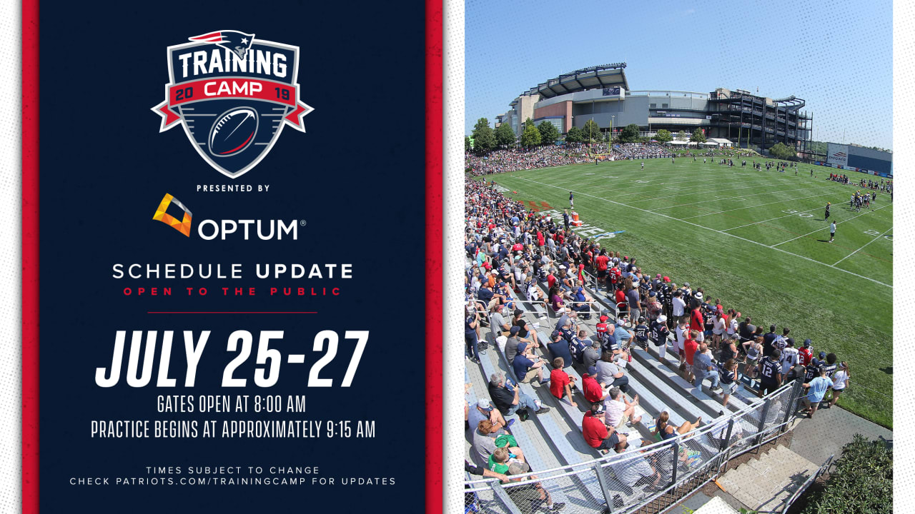 New England Patriots Training Camp 2019 Official website of the New England Patriots