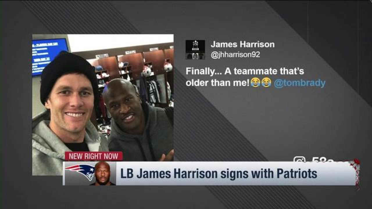 afd5f0b0c James Harrison posts photo with Tom Brady in Patriots locker room after  signing one-year deal