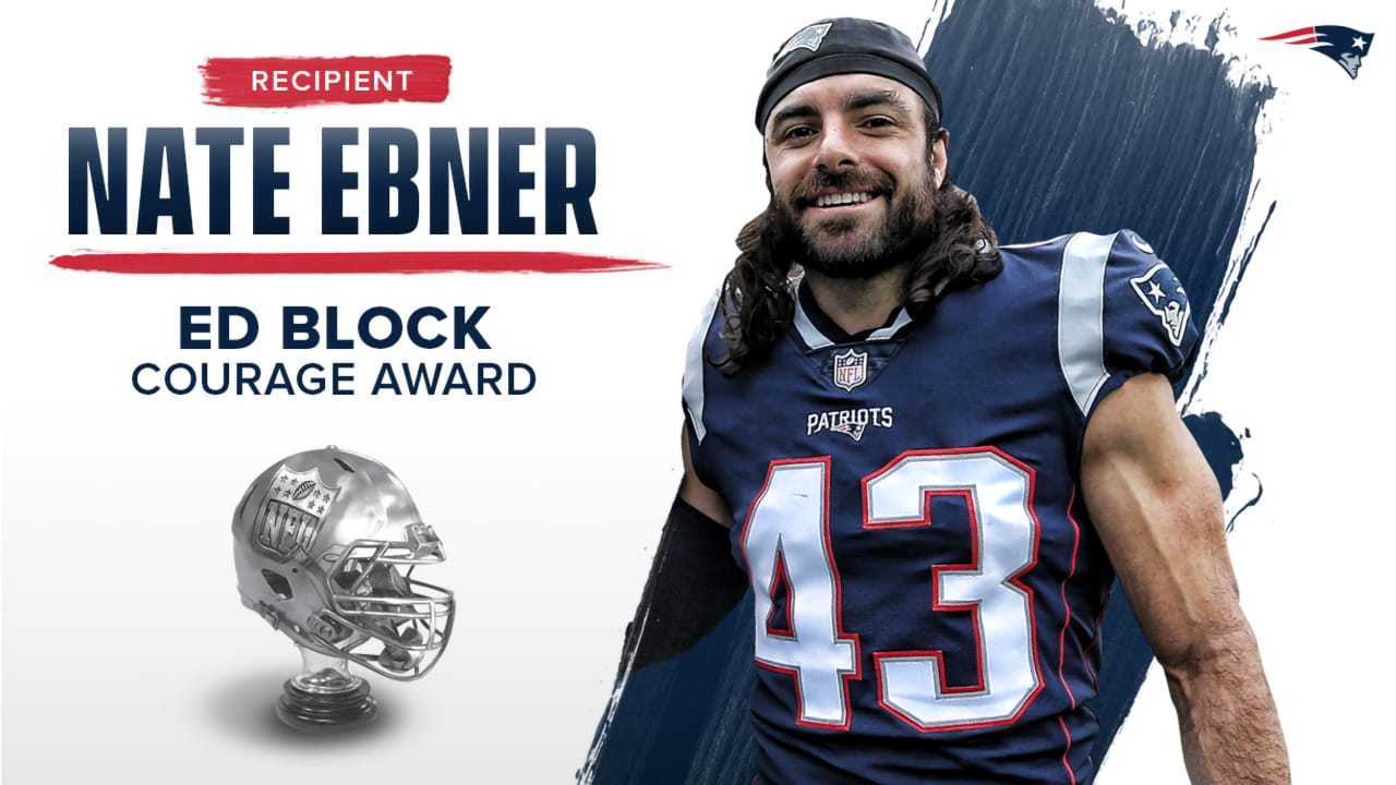 cheap for discount 0dde9 f5ec7 Nate Ebner Named New England Patriots 2018 Ed Block Courage ...
