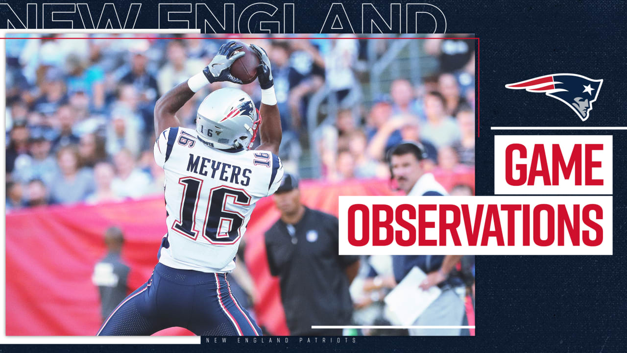 Game Observations: Rookies lead Patriots to grind-it-out 22-17 win over Titans