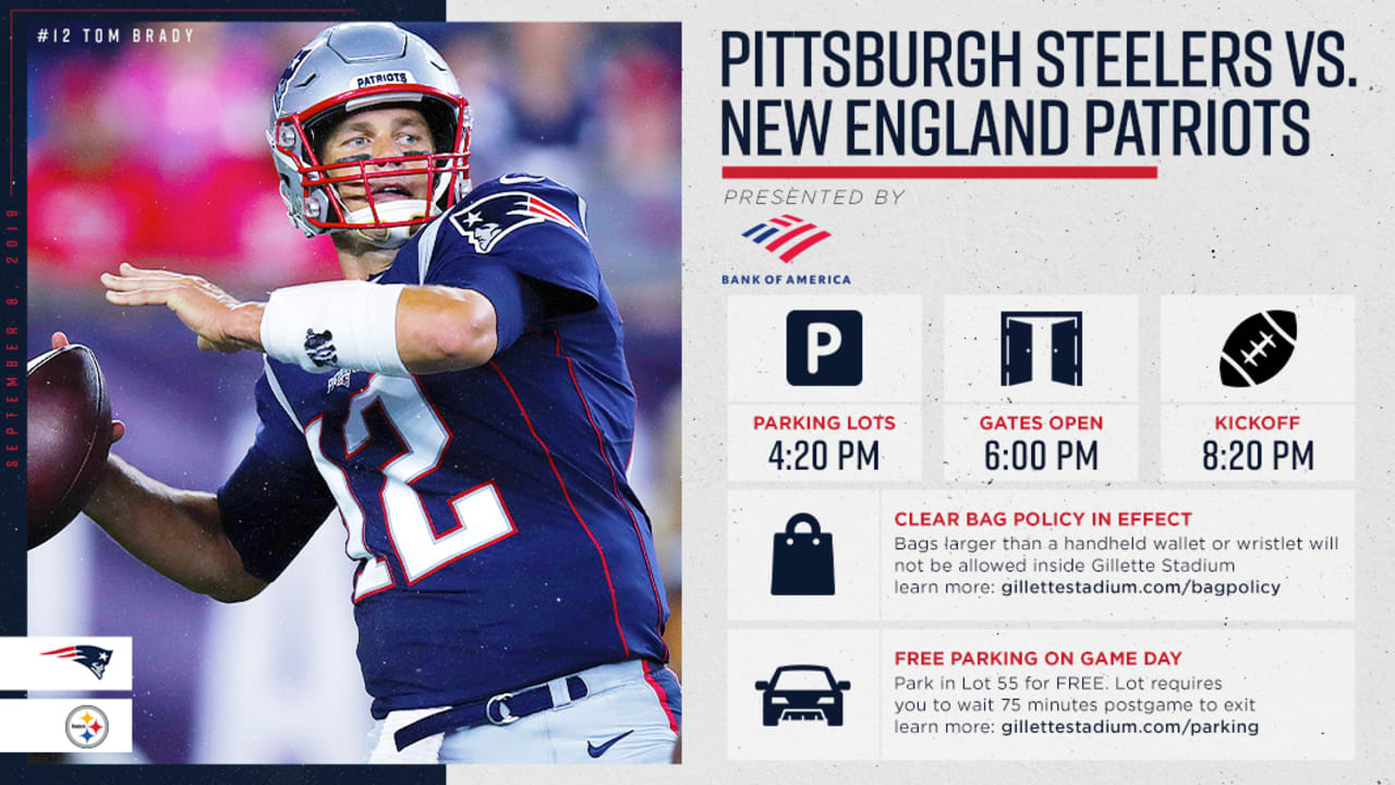 Important Ticketholder Information for Patriots - Steelers Game