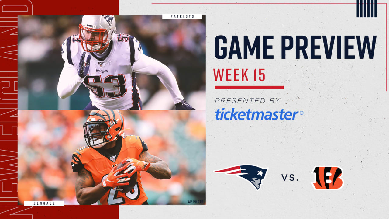 Nfl Week 15 Game Preview New England Patriots At Cincinnati Bengals The patriots are under the microscope again for a second videotaping controversy. new england patriots at cincinnati bengals