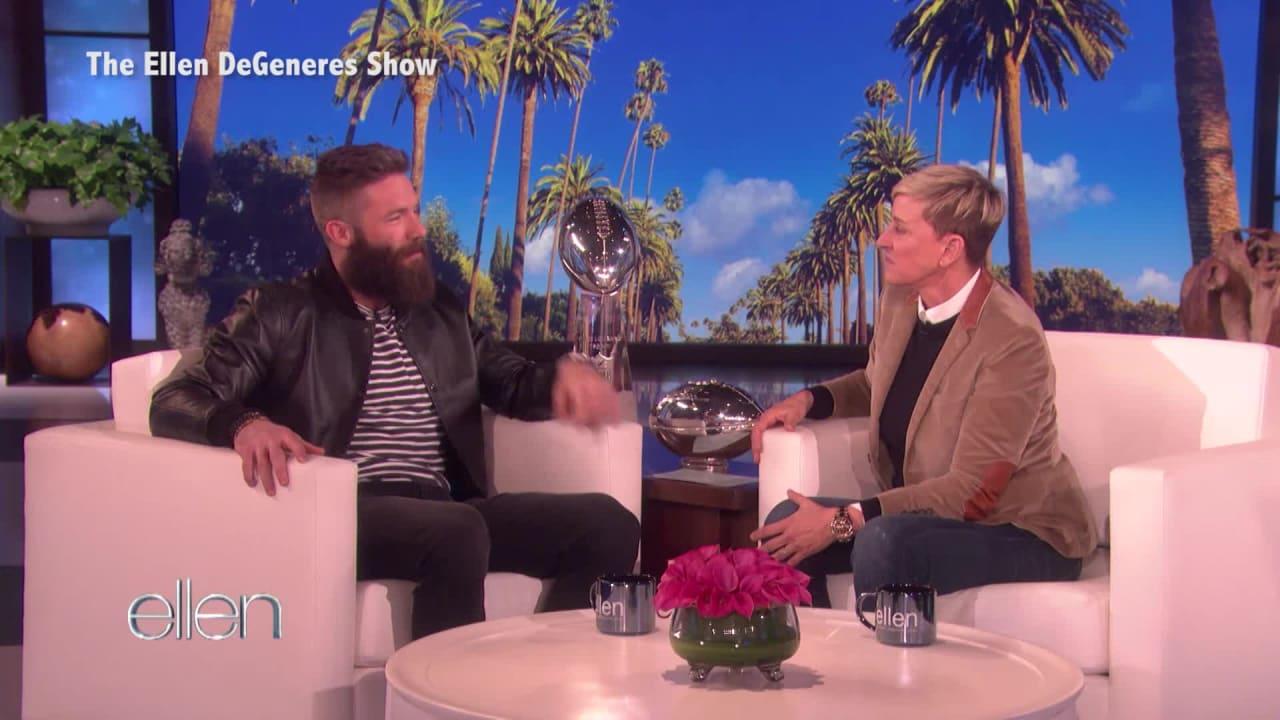 Super Bowl Mvp Julian Edelman Shaves Beard Off On The Ellen