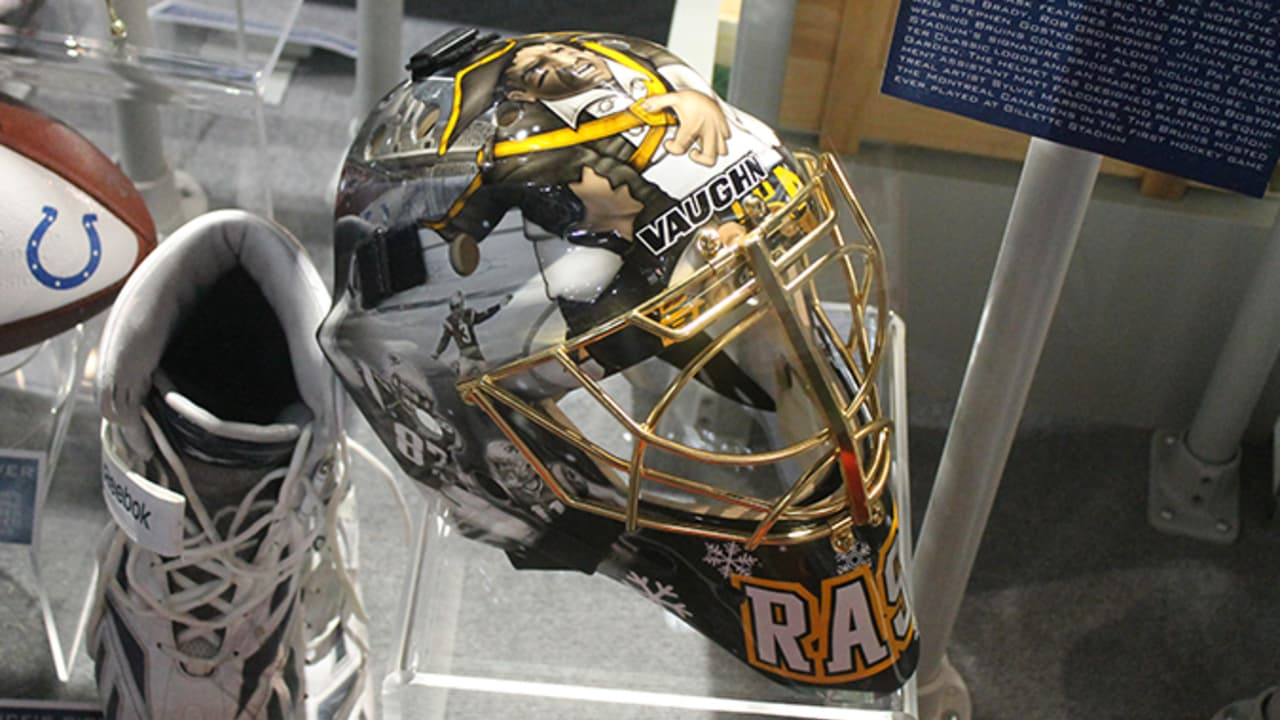 8359f794b Bruins Tuukka Rask s NHL Winter Classic goalie mask now on display at The  Hall at Patriot Place presented by Raytheon