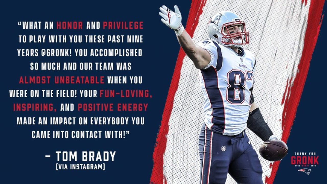 Tom Brady Reacts To Rob Gronkowski S Retirement