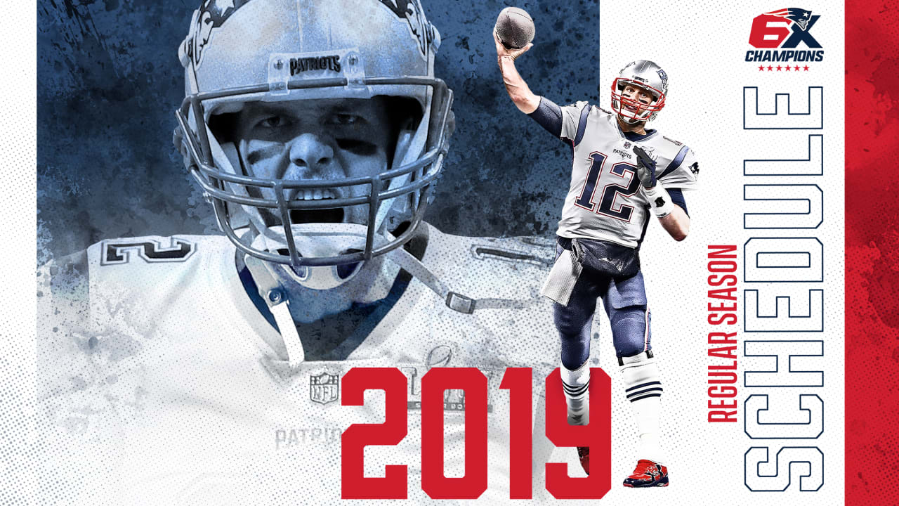 picture regarding Nfl Week 13 Printable Schedule known as Patriots 2019 Routine Declared