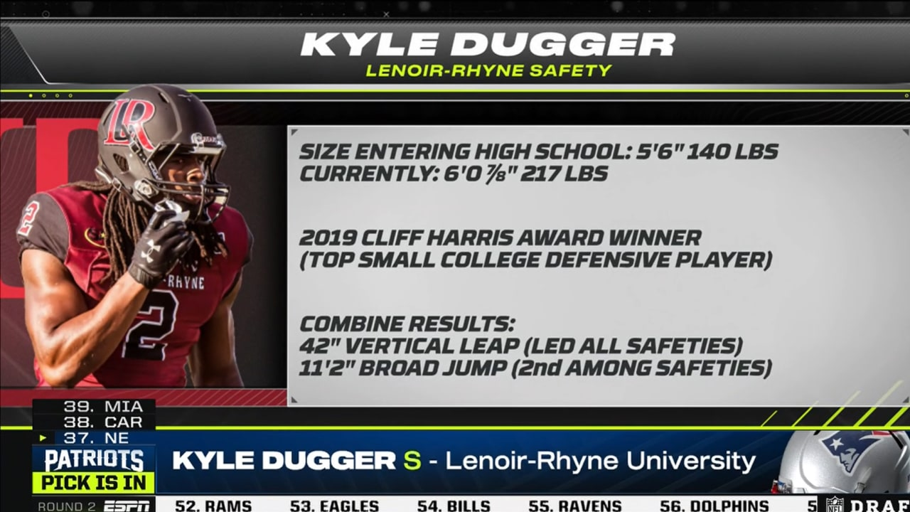Patriots select Lenoir-Rhyne safety Kyle Dugger with No. 37 pick ...