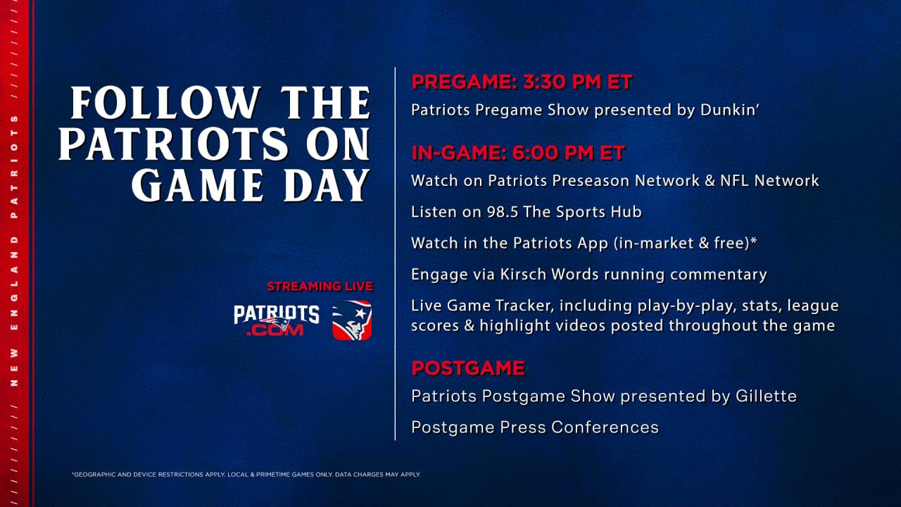 Broadcast Information: Patriots at Giants - Patriots.com