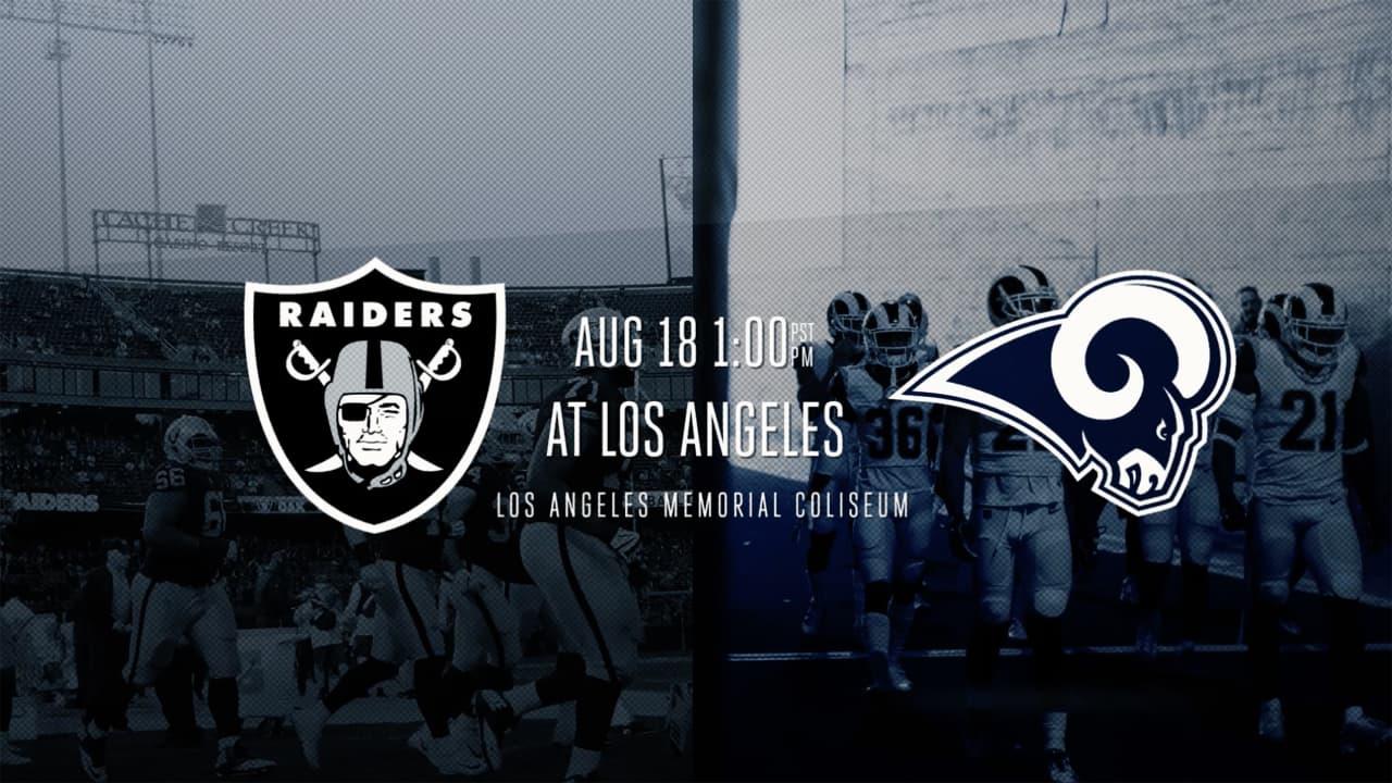 f186a30e Trailer: Raiders at Rams - 2018 Preseason Week 2