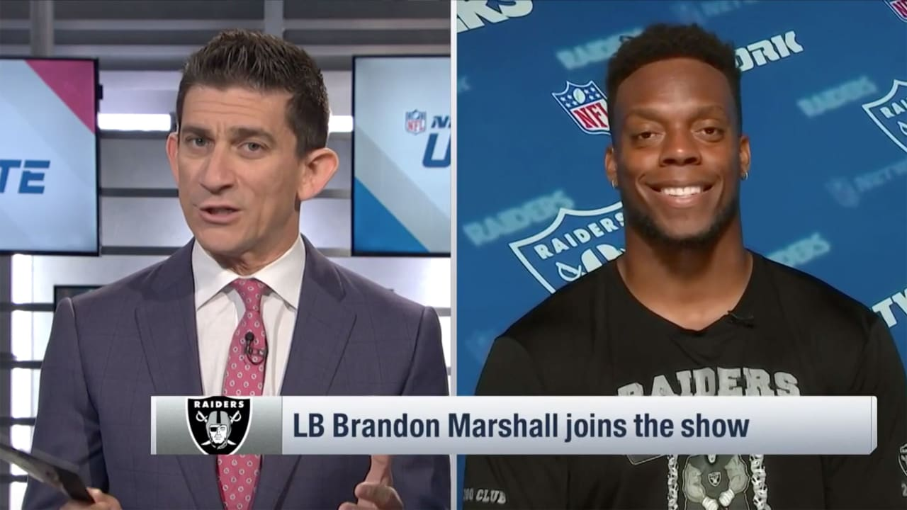 buy online cd810 f82eb NFLN: LB Brandon Marshall talks being a Raider, working with ...