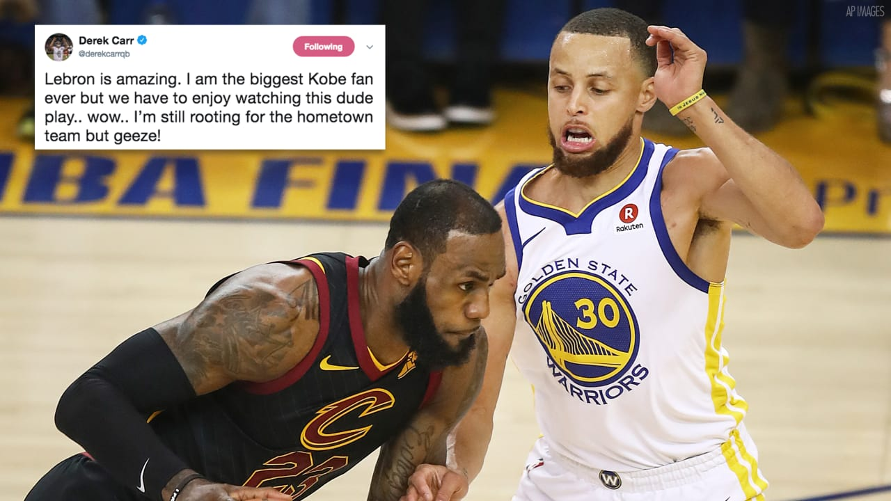 The Nba Finals Had Twitter Worked Up In A Frenzy Including Several Members Of The Raiders