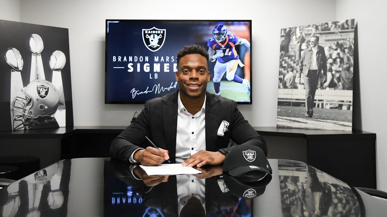 san francisco e9032 e6311 Raiders sign linebacker Brandon Marshall