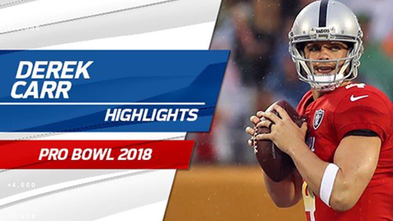 size 40 7a76f af564 Derek Carr Highlights: Pro Bowl 2018