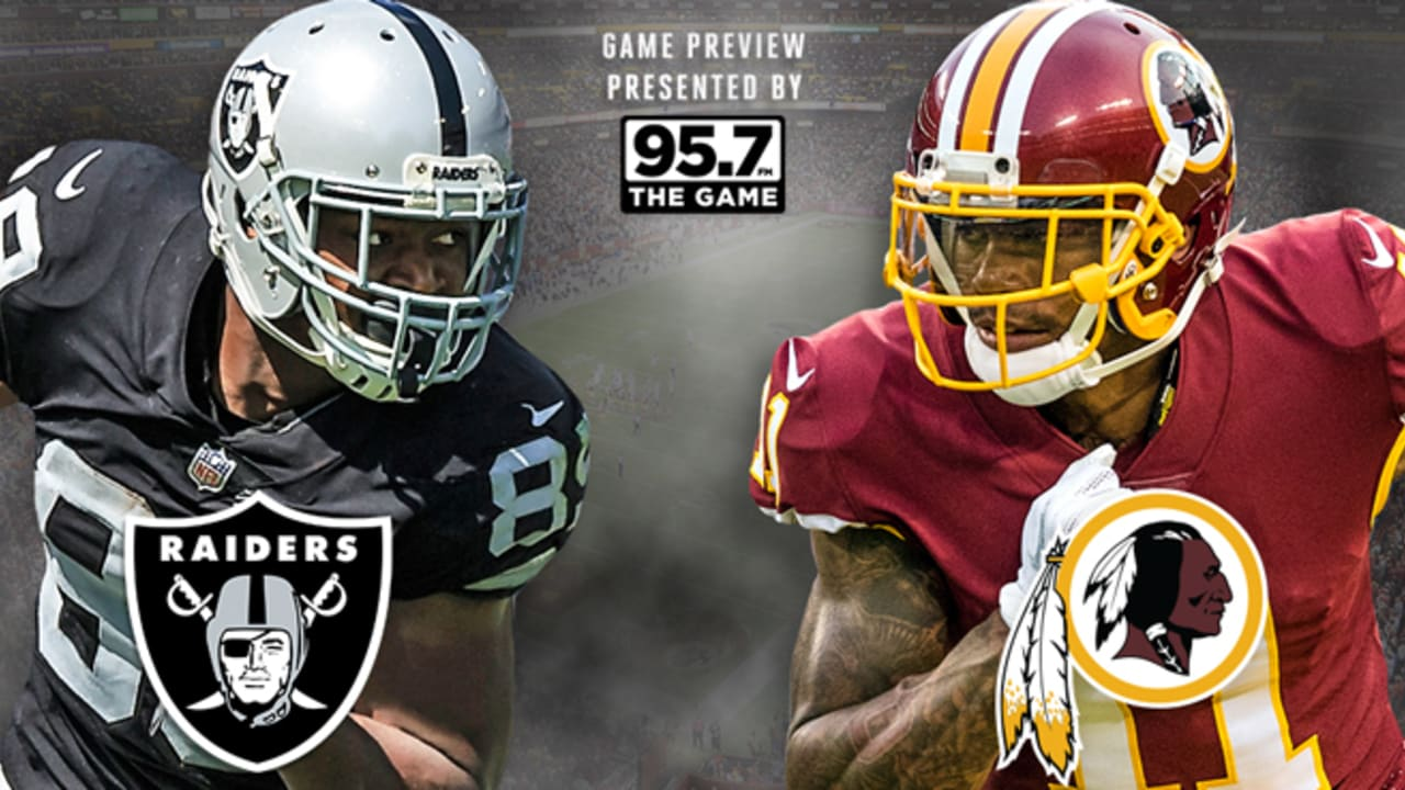 e6ccf6c1b46 Oakland Raiders Head East For Primetime Matchup Against Washington Redskins