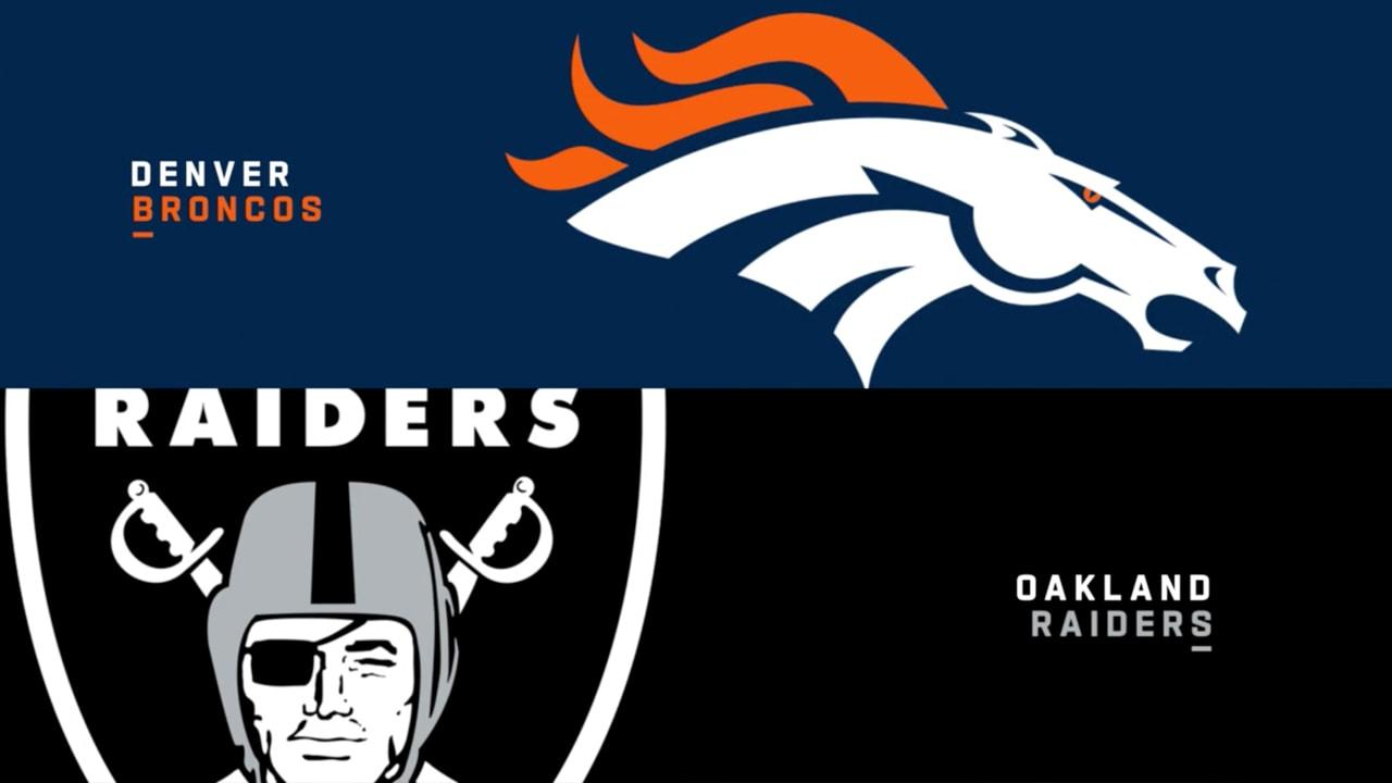 Highlights: Raiders vs  Broncos - Week 1