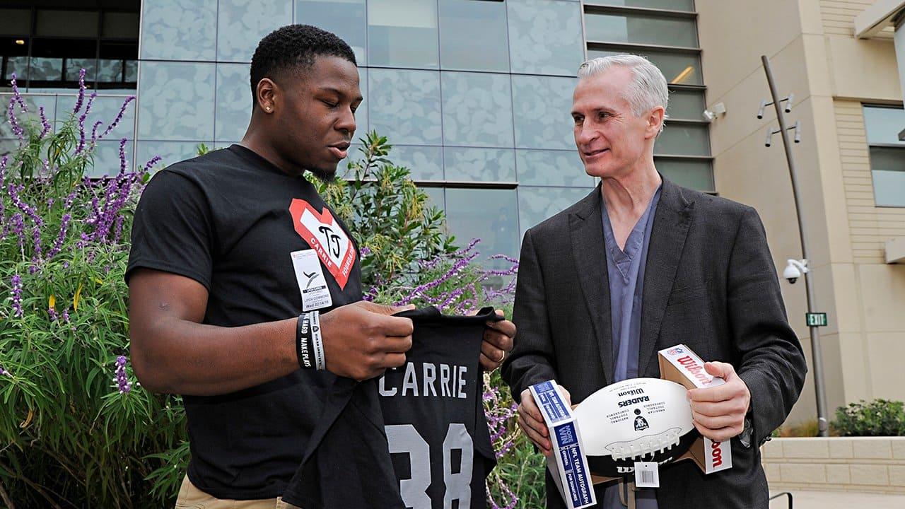 TJ Carrie Visits Stanford Children's Hospital And Reunites