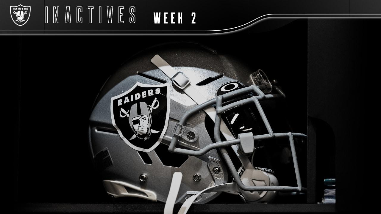 Las Vegas Raiders Week 2 Inactives vs. New Orleans Saints – Raiders.com