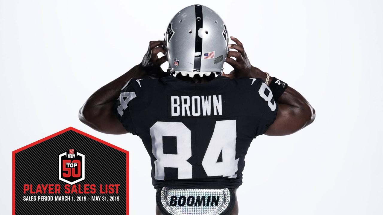 online store f5ec5 c2967 Antonio Brown and Derek Carr among NFL's top jersey sales