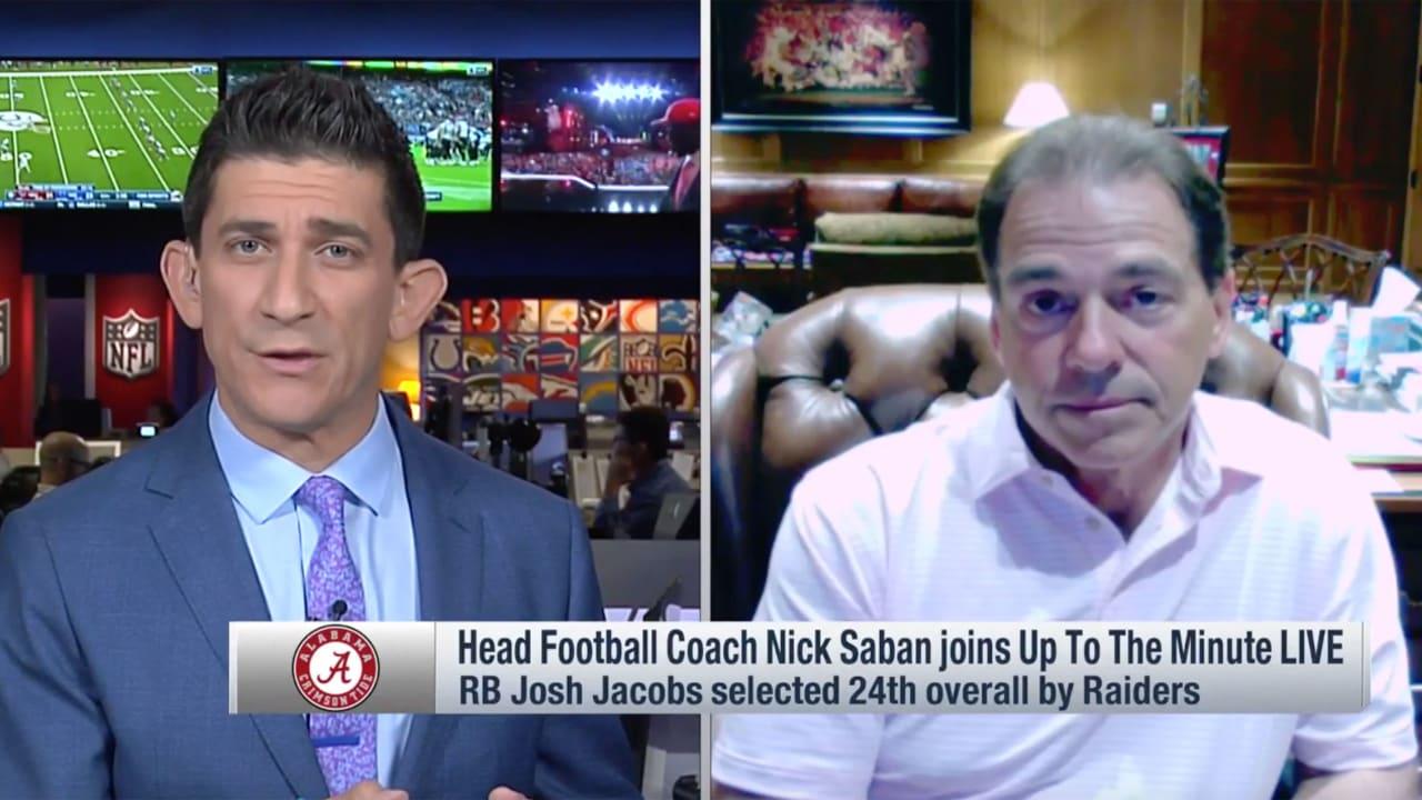 4240d4b64a2e Alabama Head Coach Nick Saban talks about RB Josh Jacobs  attributes