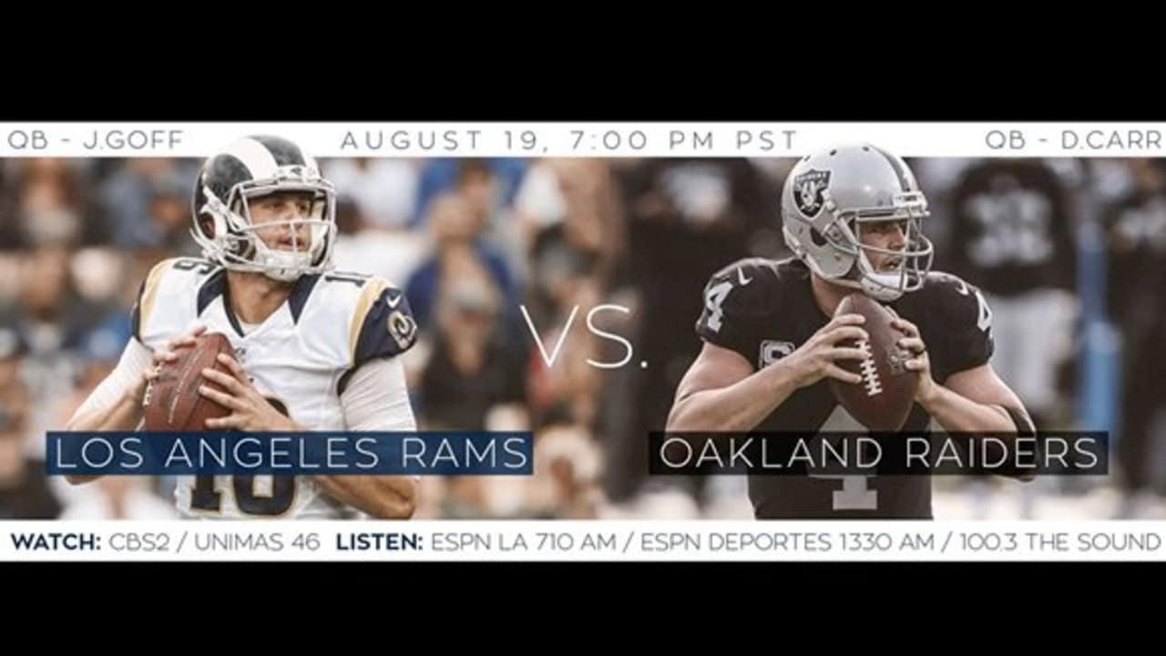 Game Trailer: Rams vs Raiders