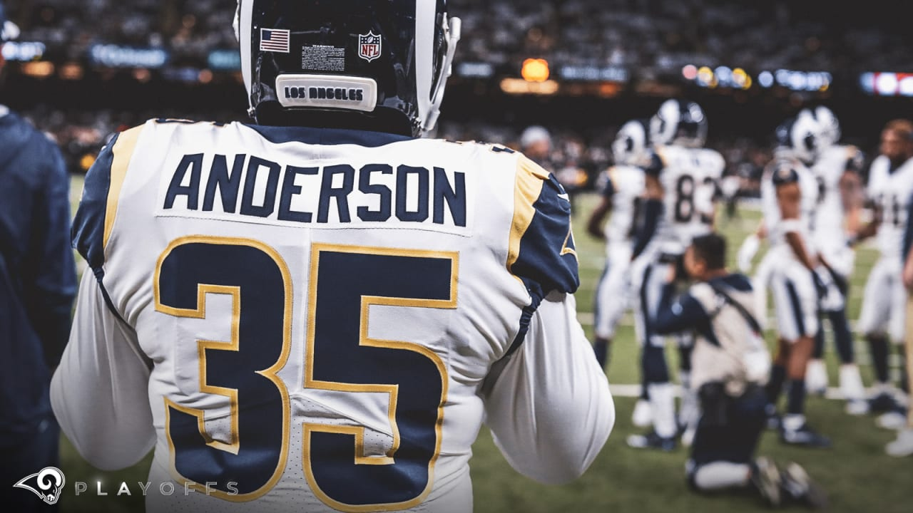 C.J. Anderson Los Angeles Rams Super Bowl LIII Game Jersey