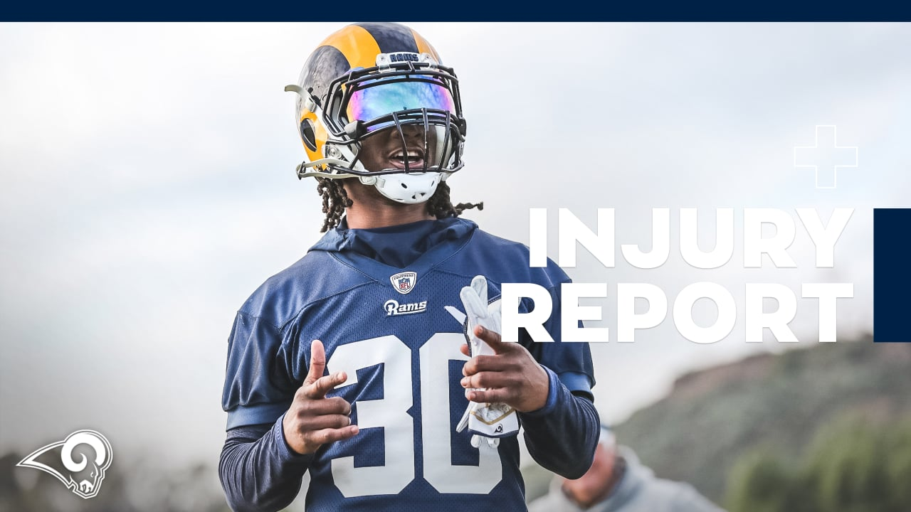 Injury Report 1 9  RB Todd Gurley listed as limited in Wednesday s practice a153a6b22