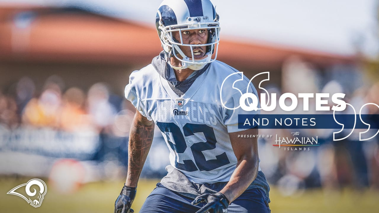 outlet store c95a8 26959 Quotes & Notes 7/28: Marcus Peters enjoying Eric Weddle's ...