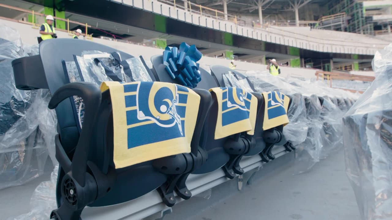 Rams Season Ticket Members See Their Seats At Sofi Stadium For The