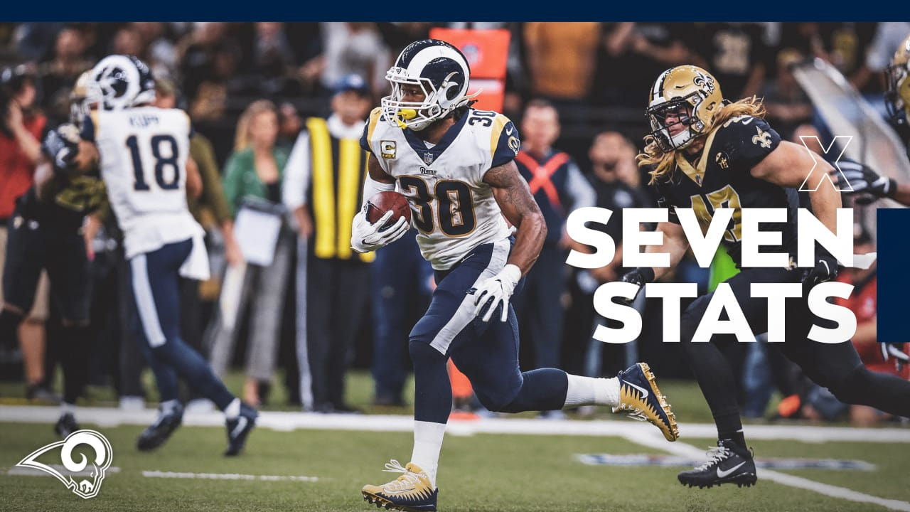 Seven Stats: Rams Lose for First Time in New Orleans