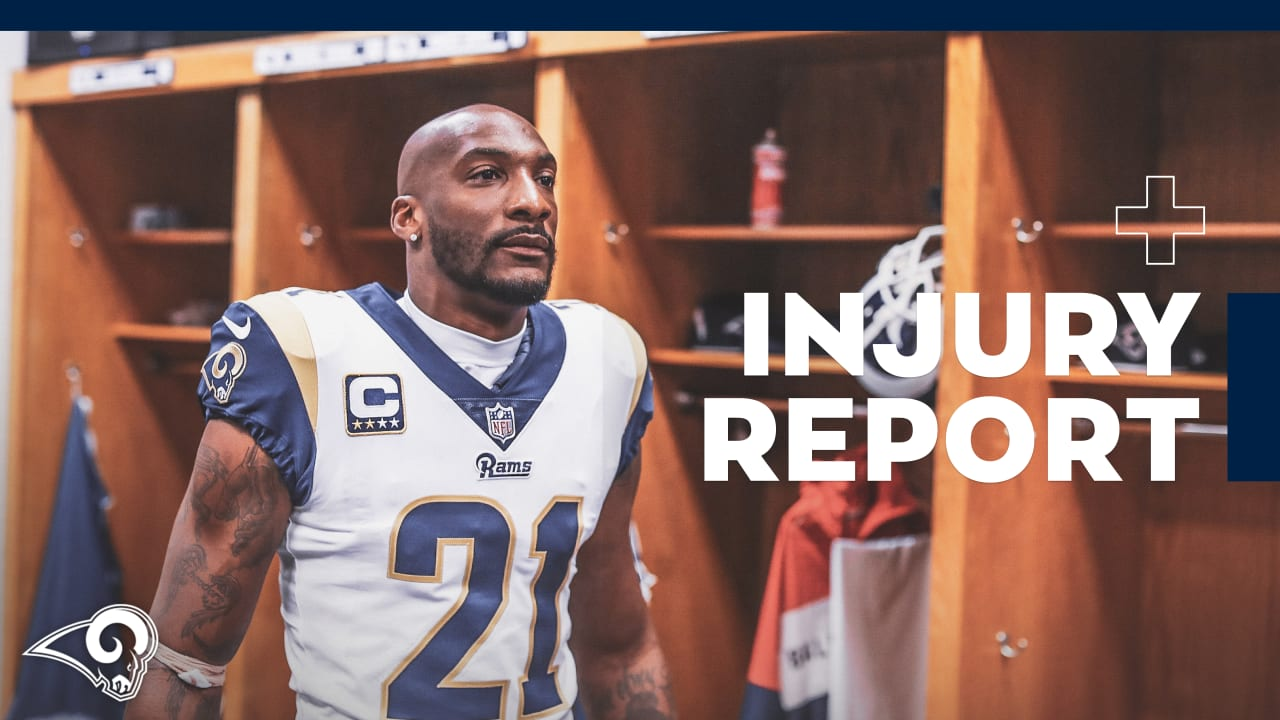 Injury Report 11 7  HC Sean McVay says CB Aqib Talib is Making Great  Progress 4e99feea5