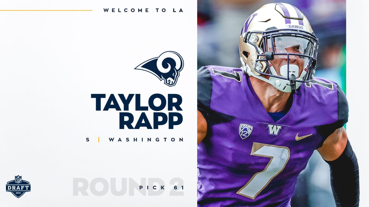 check out ae4c7 8cd66 Rams land S Taylor Rapp with No. 61 pick