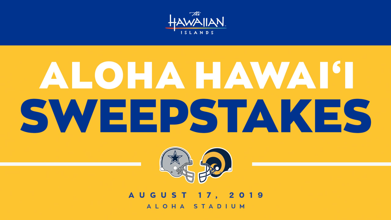 "Rams launch ""Aloha Hawai'i Sweepstakes"""