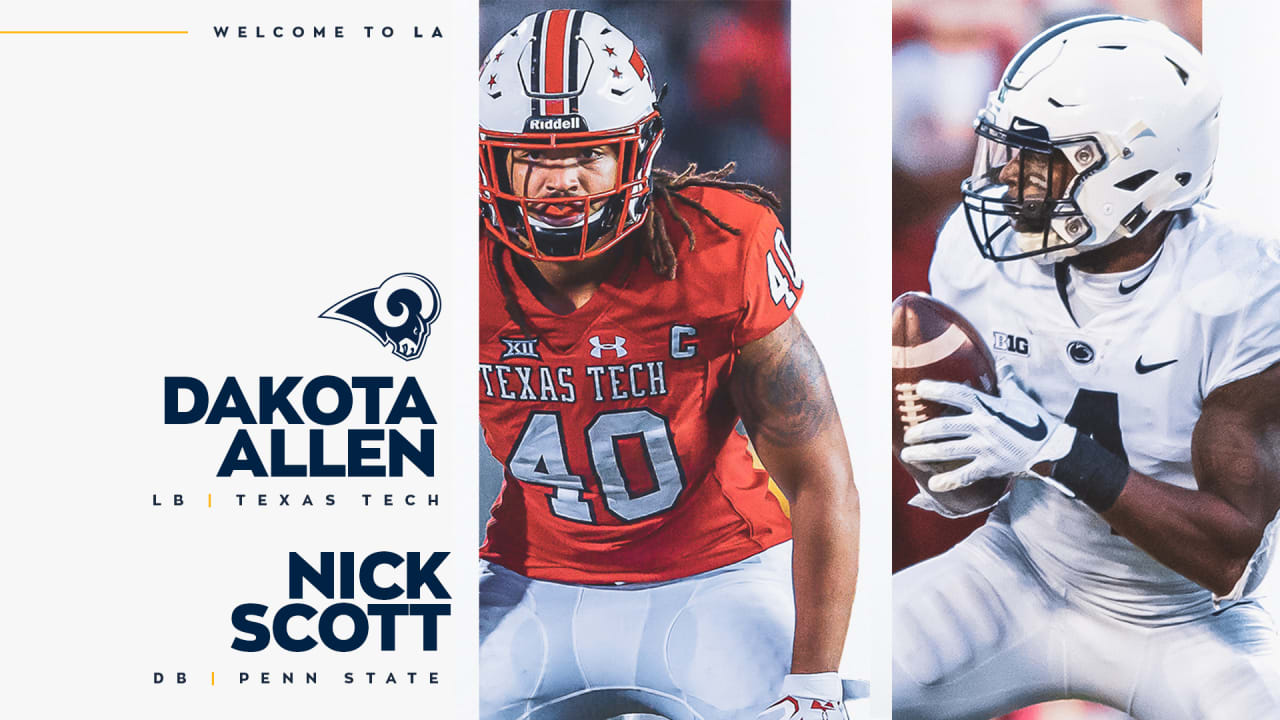 pretty nice 14c51 8ef18 Rams wrap up 2019 draft taking DB Nick Scott, LB Dakota Allen