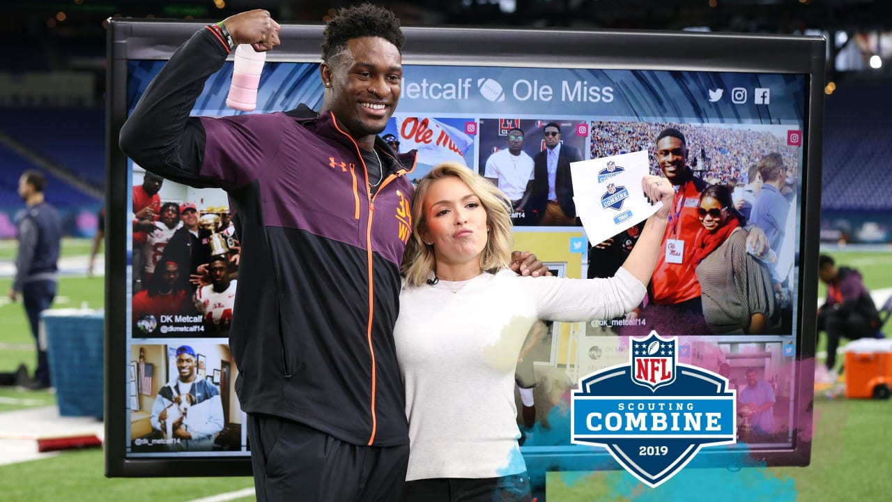 D K Metcalf Reacts To His Stellar Combine Performance