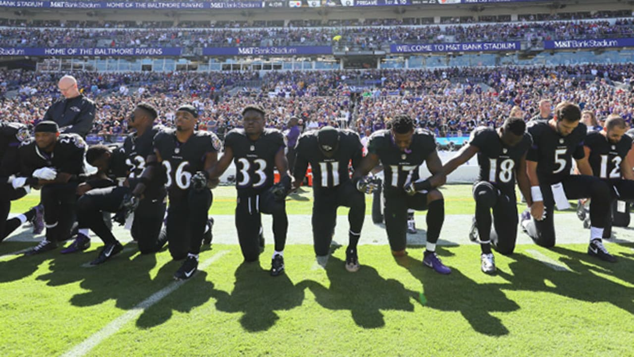 Ravens Explain Kneeling For Prayer Standing For National Anthem