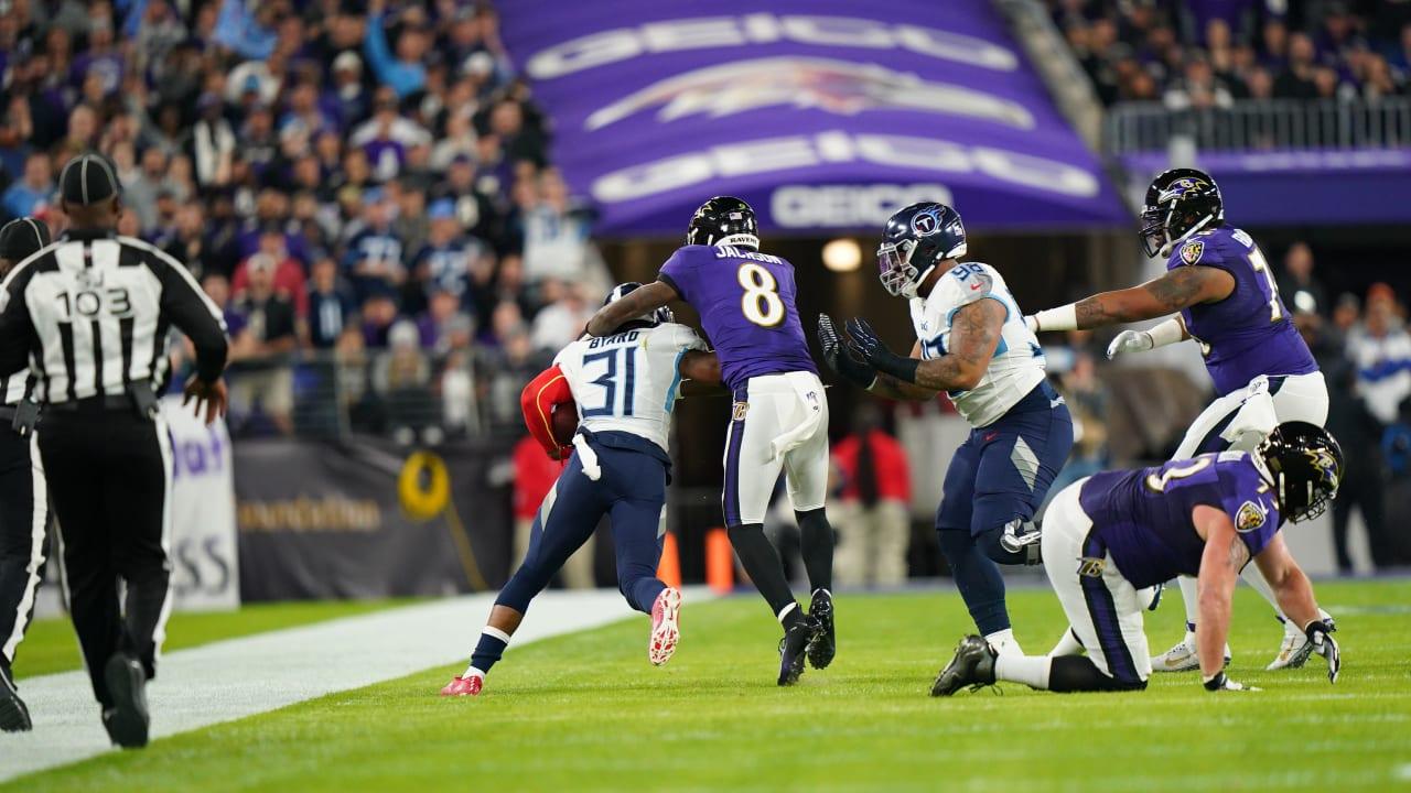 Highlight: Lamar Jackson Intercepted, Makes Tackle