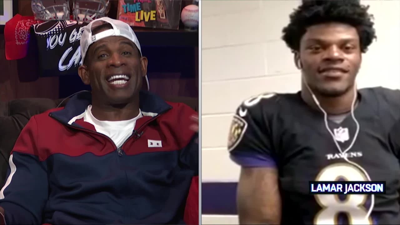 official photos 38cbe ea7d8 Deion Sanders Gives Lamar Jackson the Call After His First Win