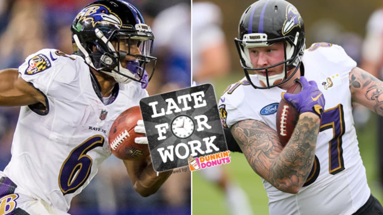 Late for Work 5 8  Early Look at Ravens Offensive Depth Chart and Roster  Battles 233e5f756